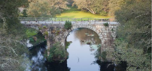 Puente romano de Freixo, entre Celanova y Cartelle