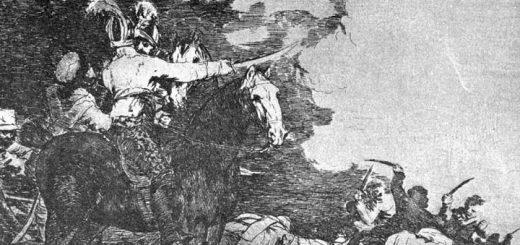 """Grabado de """"Los desastres de la guerra"""", de Goya"""