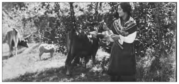 Pastorcilla encontrando a la Virgen del Cristal