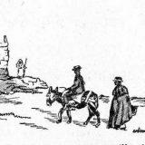 Romeros junto al castillo de la Saínza