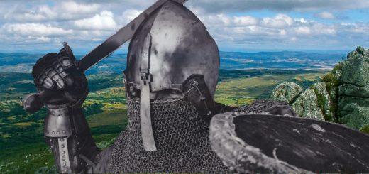 Guerrero medieval en el monte Aguioncha