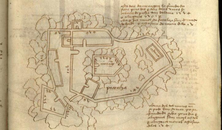 Planta del Castillo de A Picoña