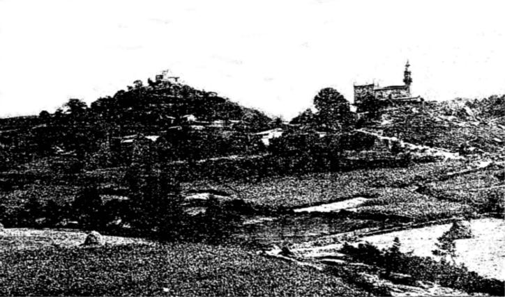 Santa María del Alcázar de Milmanda (a la izqda.) y santa Eufemia de Milmanda en el año 1929