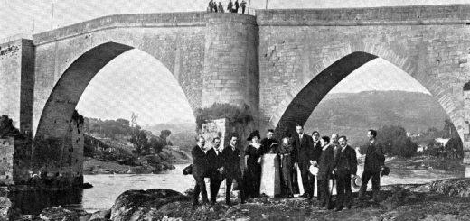 Inauguración monumento a Curros Enríquez en Ourense (1913)