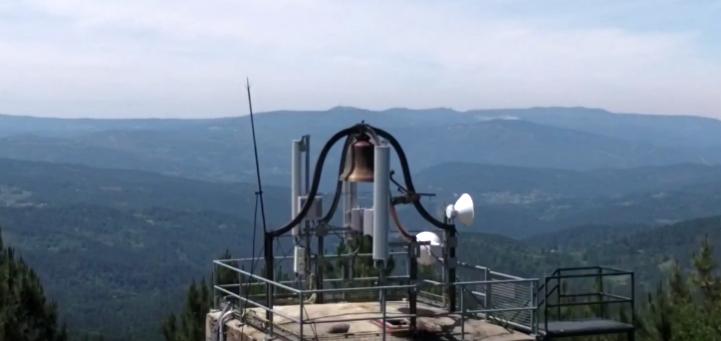 Campana de la torre del reloj de O Facho