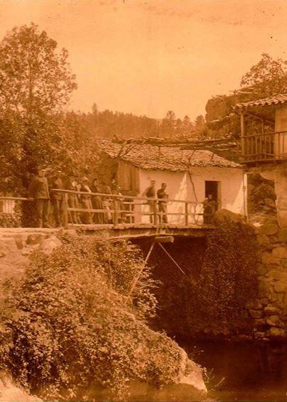 """""""Ponte Internacional de S. Gregório (Melgaço), há cerca de 100 anos atrás""""/Melgaço. Entre o Minho e a Serra"""