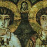 Sergio y Baco, mártires cristianos unidos bajo el ritual de la adelfopolesis