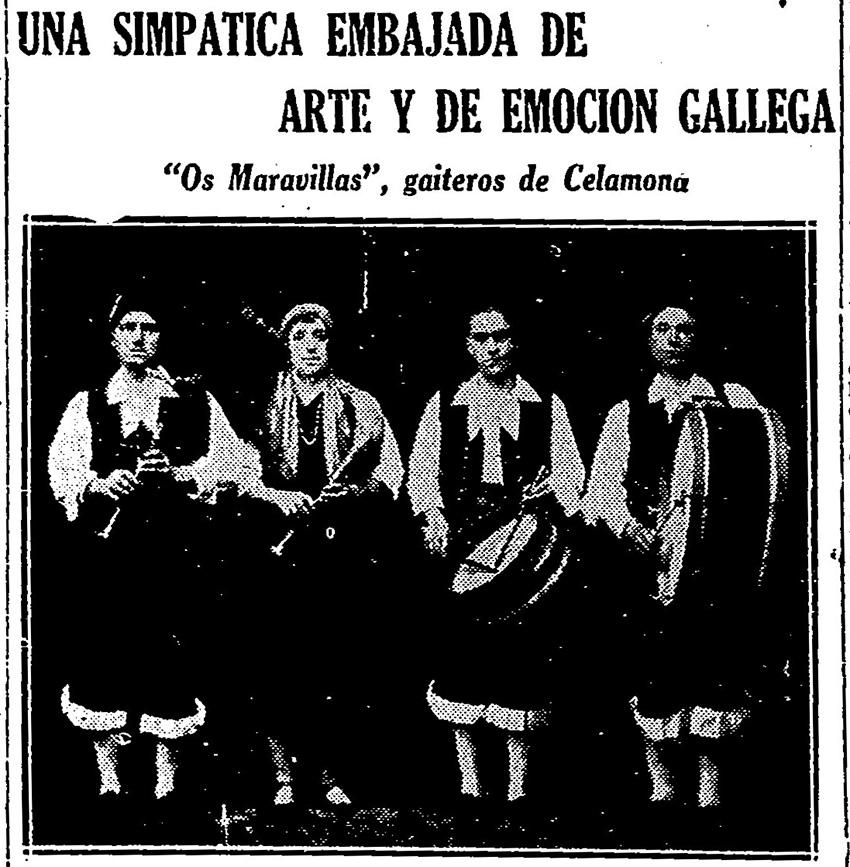 """""""Os Maravillas de Celanova"""" en Argentina/ El Correo de Galicia (10/11/1929)"""