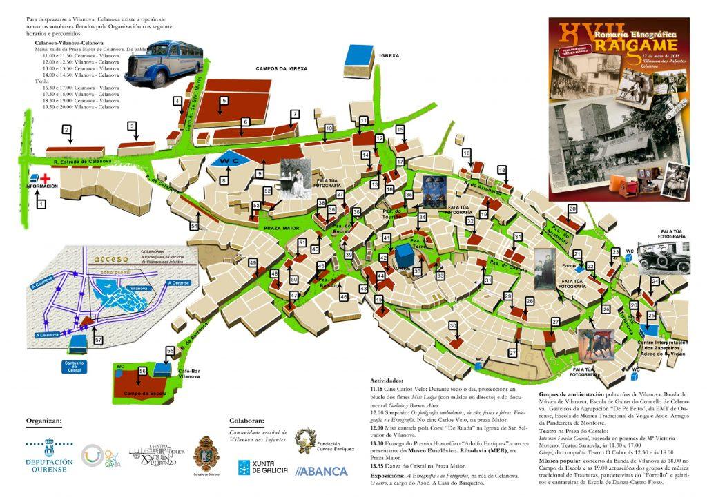 """Mapa """"XVII Romaría Etnográfica Raigame"""" en Vilanova dos Infantes"""