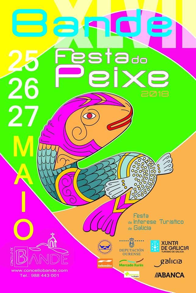 """Cartel de la """"XLVII Festa do Peixe"""" de Bande / Concello de Bande"""