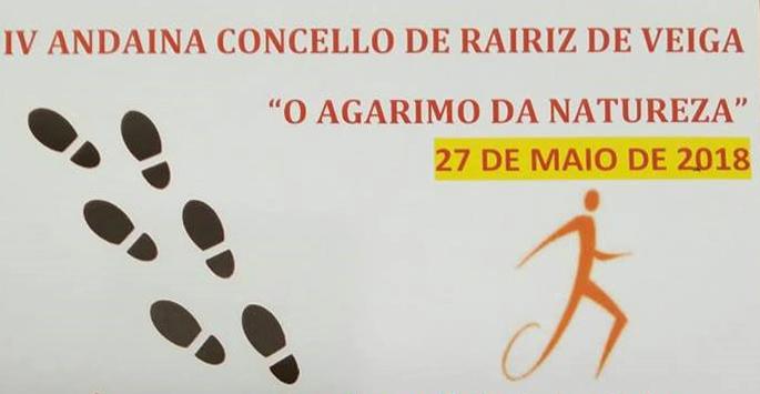 """Detalle del cartel de la """"IV Andaina O Agarimo da Natureza"""" de Rairiz de Veiga"""