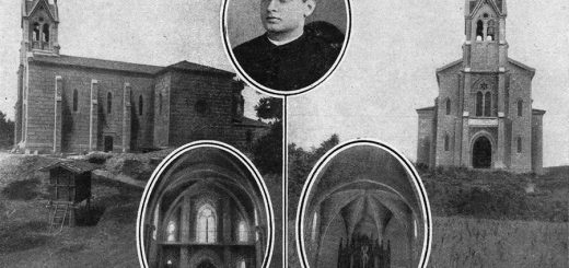 Iglesia de Sabucedo de Montes en 1916 y su promotor, Juan Bautista Casas/ Vida Gallega
