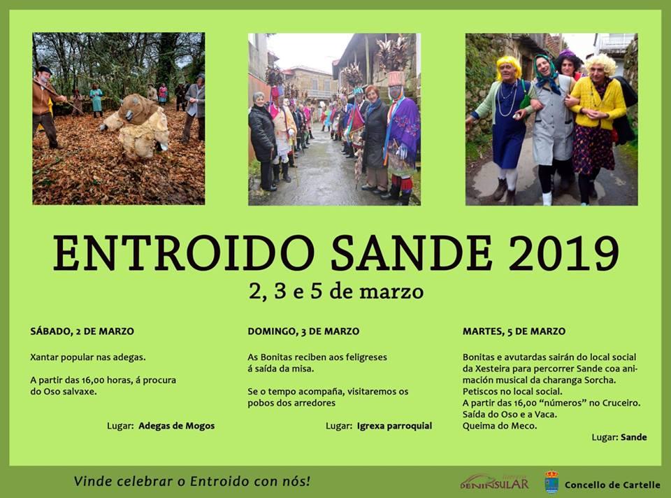 Cartel del Entroido de Sande 2019