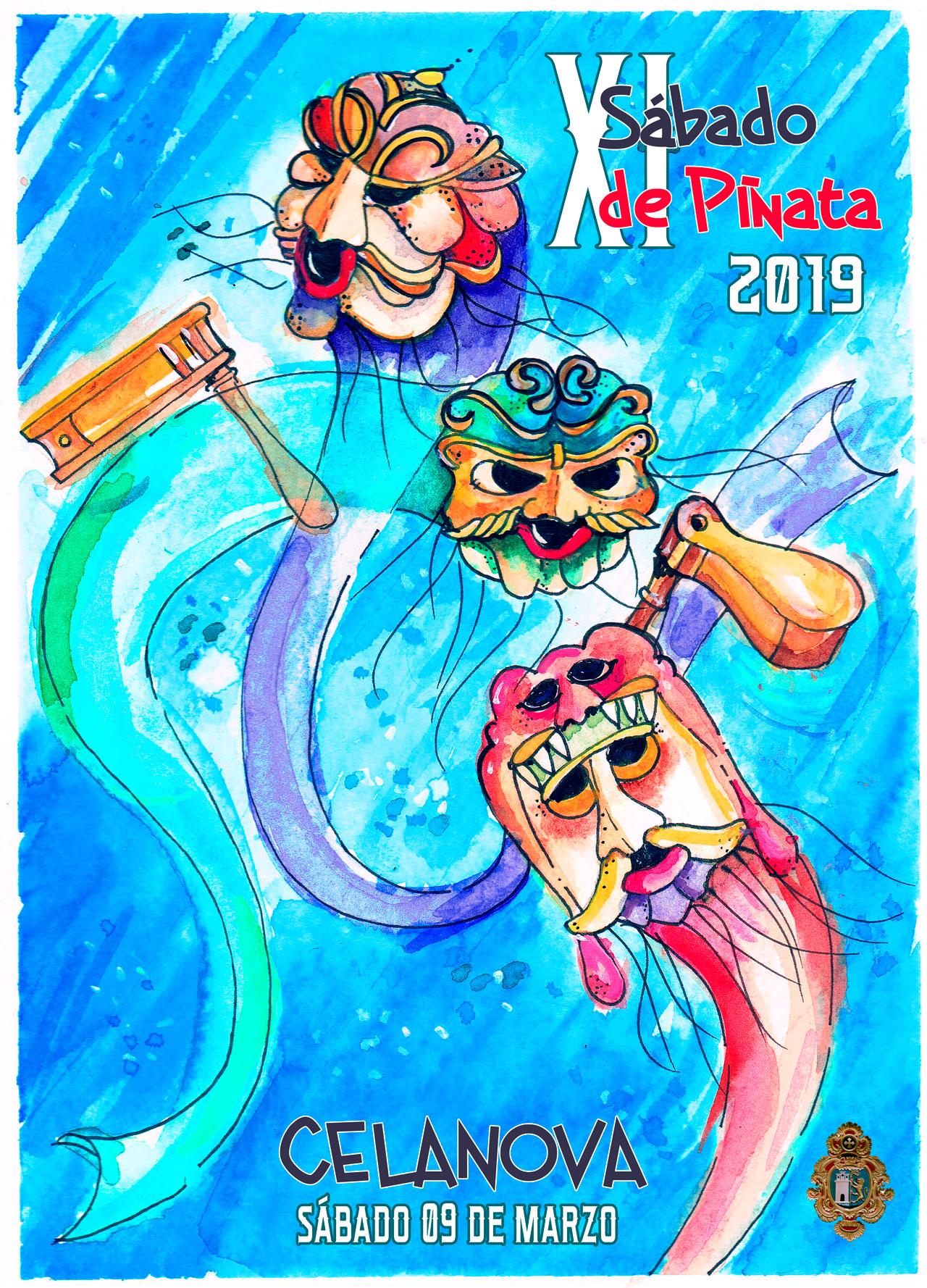 Cartel del XI Sábado de Piñata de Celanova