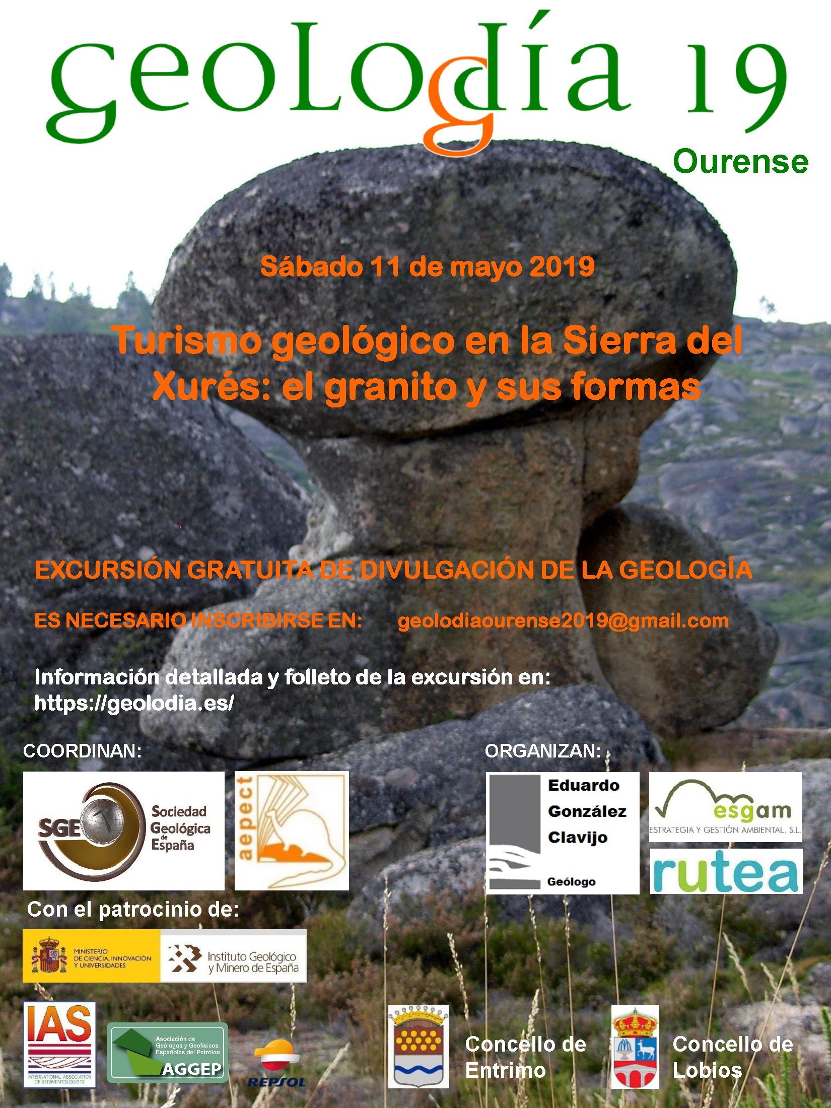 Cartel del Geolodía 2019 en Ourense