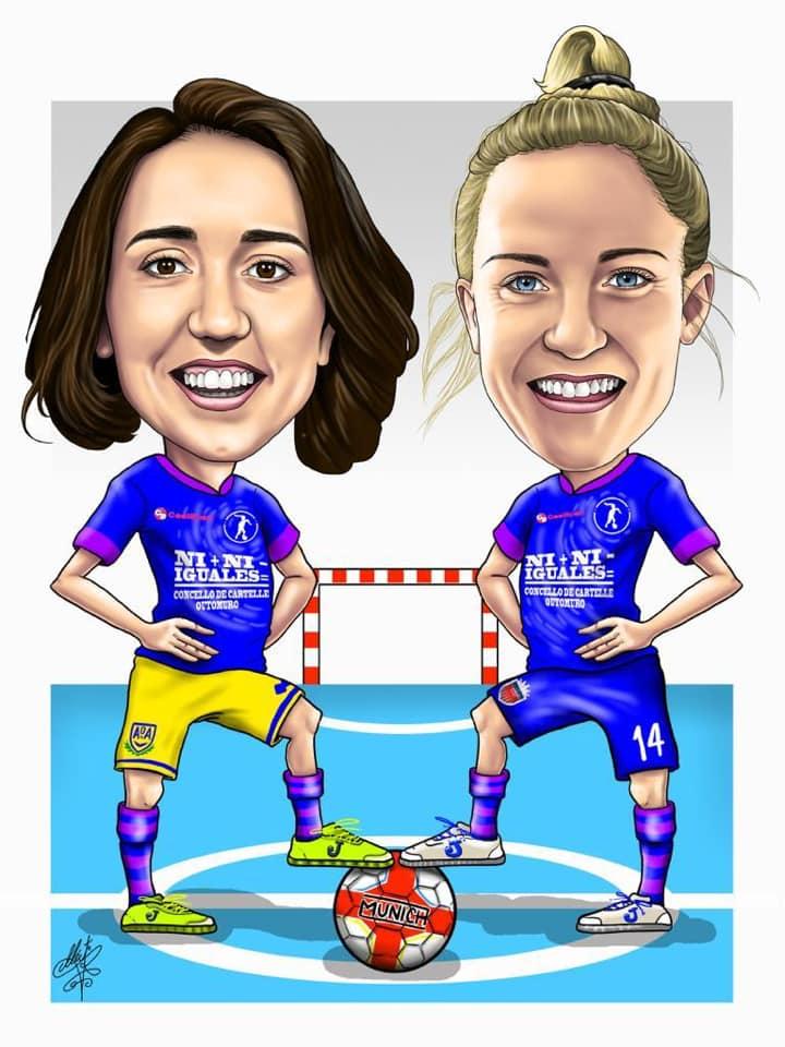 Ilustración I Maratón de Fútbol Sala Femenino de Outomuro/ Oh Art