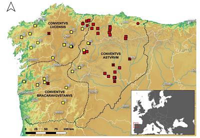 Mapa asentamientos militares noroeste Península Ibérica_Romanarmy