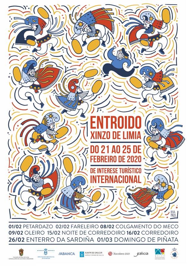 Cartel oficial del Entroido de Xinzo de Limia 2020