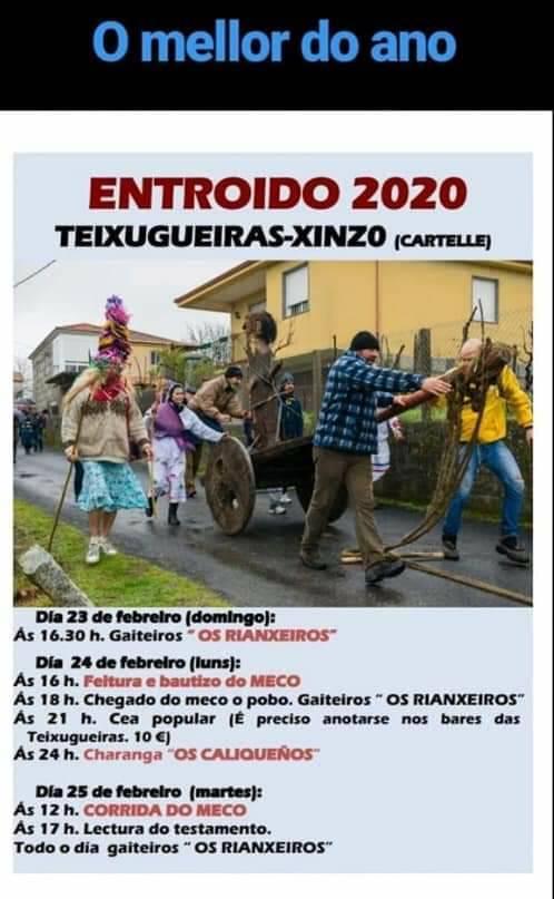 Cartel del Entroido de As Teixugueiras - Xinzo (Cartelle) 2020