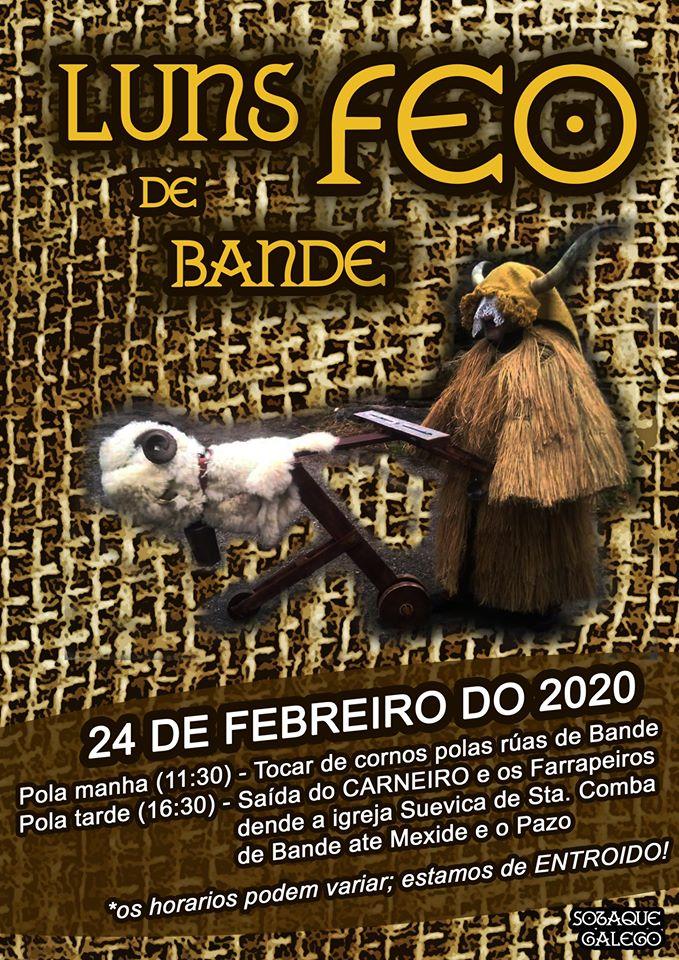 """Cartel del """"Luns Feo"""" del Entroido de Bande 2020"""