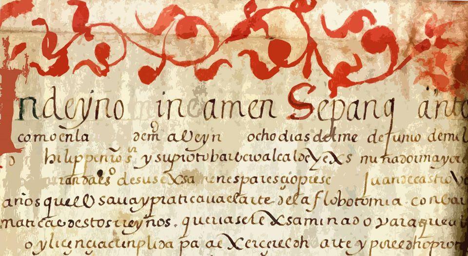 Título de barbero sangrador concedido a Juan de Castro, vecino de Allariz, en el año 1591/ Arquivo Histórico Provincial de Ourense