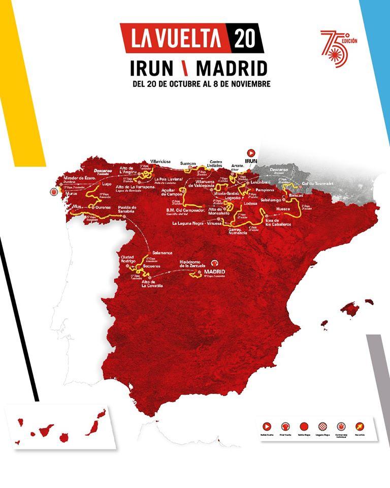 Mapa oficial de La Vuelta 20