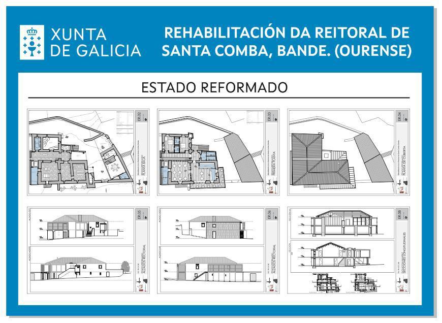 Planos para la rehabilitación rectoral Santa Comba de Bande_Xunta de Galicia
